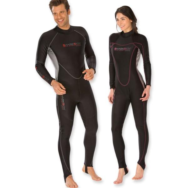 Sharkskin SSA Chillproof Overall mit Rücken RV - warm wie 2 mm Neopren