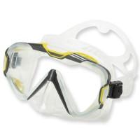 Mares Pure Wire Tauch- und Schnorchelmaske - grau-gelb, klares Silikon