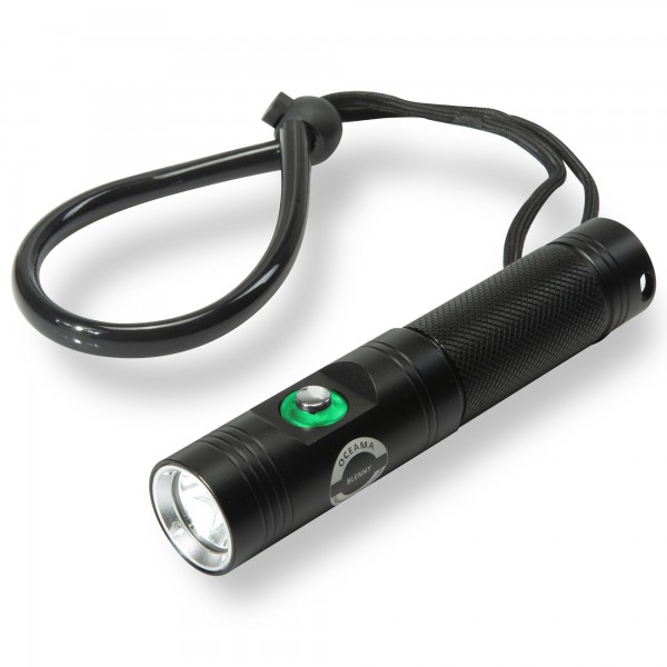 Tauchlampe Blenny - 860 Lumen - schwarz 2 Schaltstufen und SOS Signal