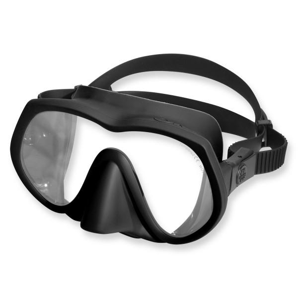 OMS Tauchmaske TX1 - UV Schutz Glas, schwarz