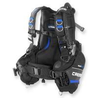 Cressi Jacket Aquaride blau - Rückenpolster und Trimmbleitaschen