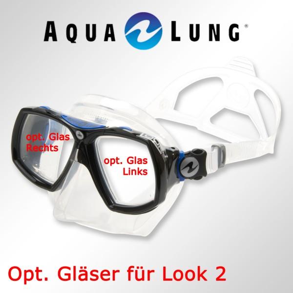 Optisches Glas für Maske Aqualung Look 2