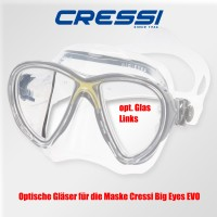 Optisches Glas für Cressi Big Eyes EVO - links