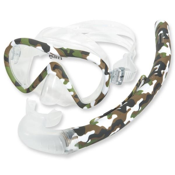 Mares Ventoy Energy Schnorchelset Camouflage Clear - für Erwachsene
