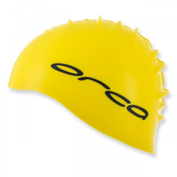 ORCA Badekappe aus Silikon - gelb