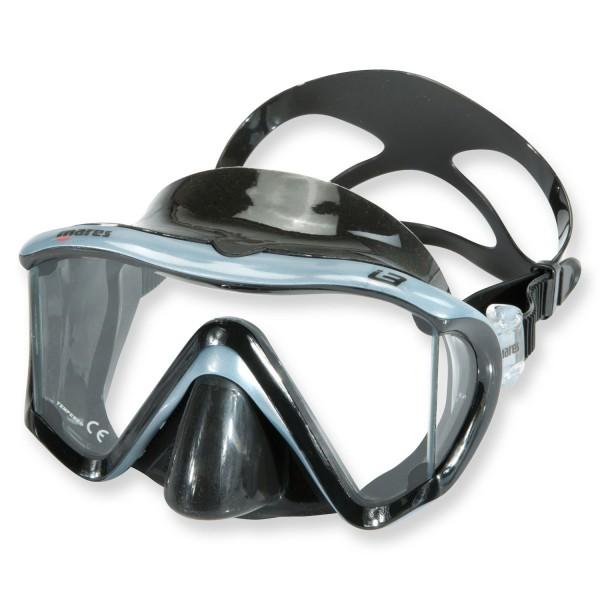 Mares Tauchmaske i3 - aus schwarzem Silikon