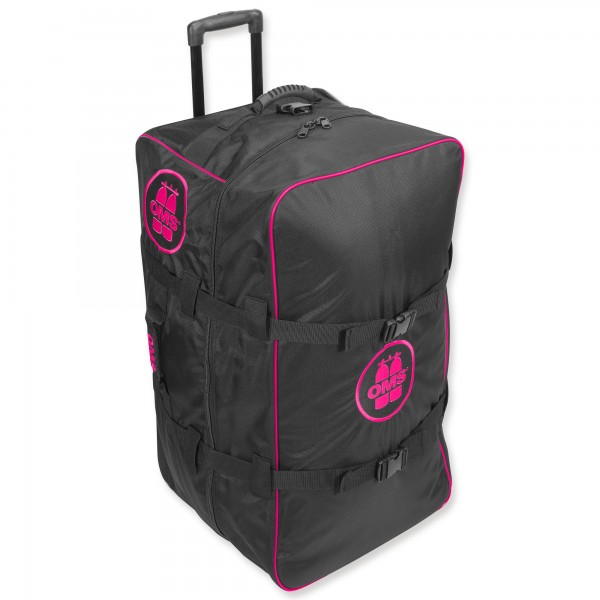 OMS Roller Bag - riesiger, sehr leichter Rollenrucksack - 145 Liter, pink