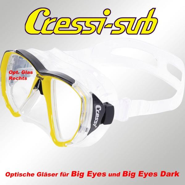 Optisches Glas für Cressi Big Eyes, rechts