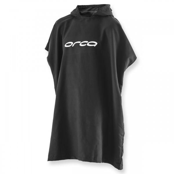 ORCA Poncho Towel schwarz - sehr saugfähig
