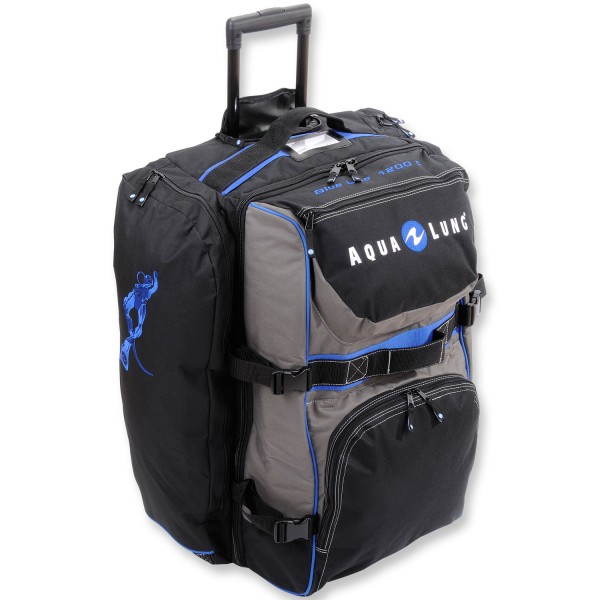 aqualung blue line rollenrucksack 1200c mit teleskopgriff 120 liter volumen ebay. Black Bedroom Furniture Sets. Home Design Ideas