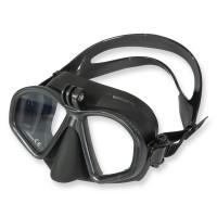 Beuchat GP-1 Maske mit Adapter für Action Cams, schwarzes Silikon