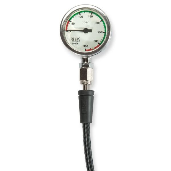 Metallfinimeter mit Mineralglas und Miflex-Schlauch