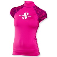 Scubapro Rash Guard Flamingo - Damen kurzarm UPF 50