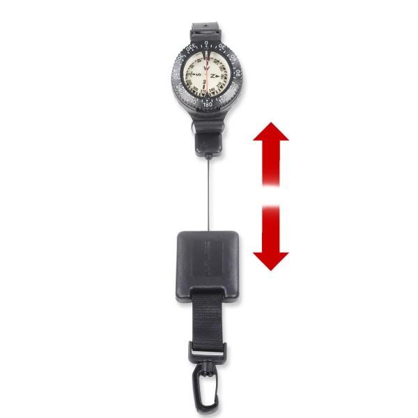 Seac Kompass-Set mit Retractor - leicht bedienbar