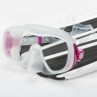 Mares Juno Einglas Maske - clear pink mit großem Sichtfeld