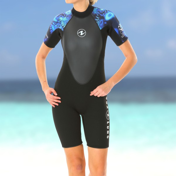 Aqualung Hydroflex Shorty - 3mm Neopren Damen, blau