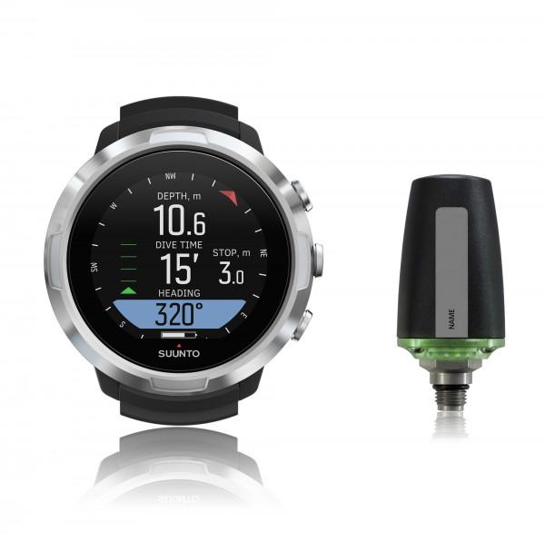 Suunto D5 black Tauchcomputer im Uhrenformat - Sparset mit Sender für Luft und Nitrox