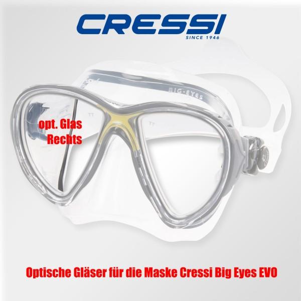 Optisches Glas für Cressi Big Eyes EVO - rechts