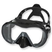Apeks Tauchmaske VX1 schwarz - schwarzes Silikon, klares Glas