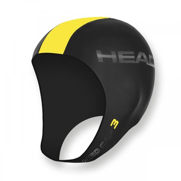 Head Badehaube aus 3mm Neopren - warm und bequem, gelb
