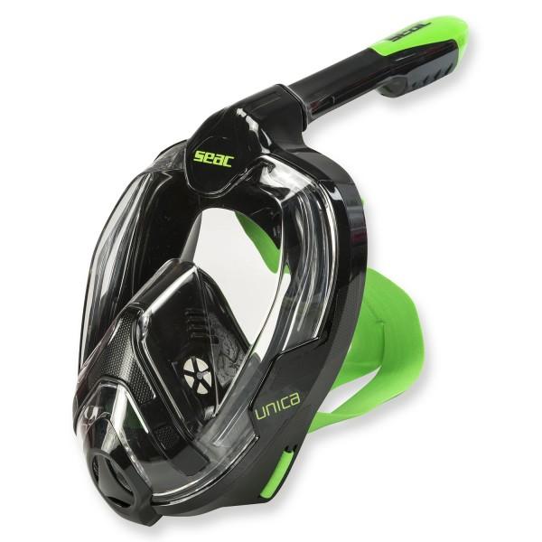 Seac Vollgesichtsmaske Unica mit Trockenschnorchel - schwarz (L-XL)