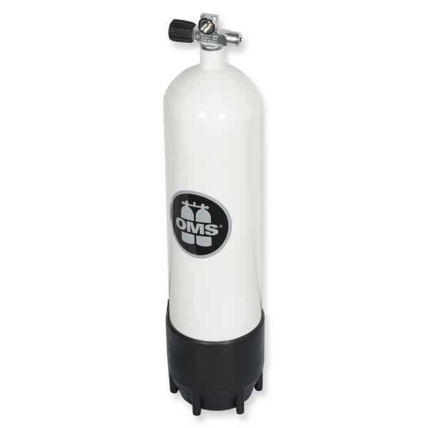 OMS - BTS Mono Stahlflasche 12 Liter lang - Ventil ausbaufähig