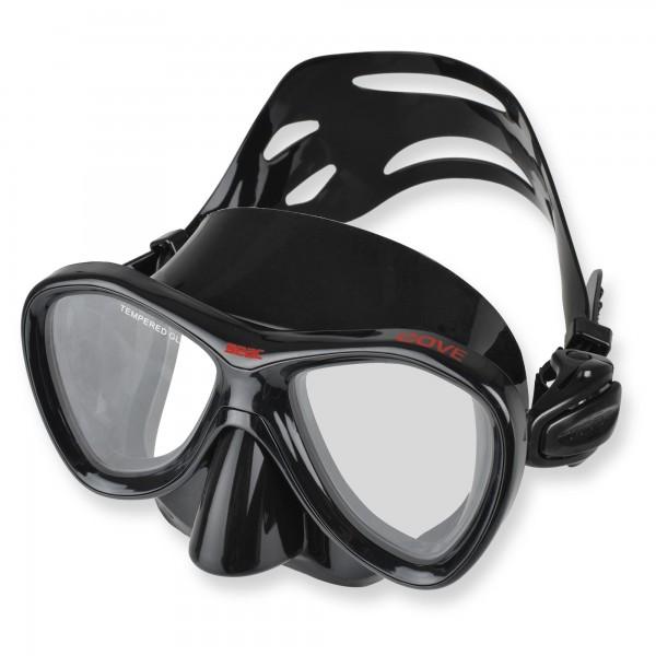 Seac Cove - Freitauchmaske aus schwarzem Liquid Silikon - TOP Passform
