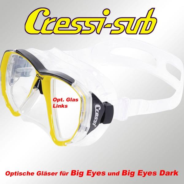 Optisches Glas für Big Eyes, links