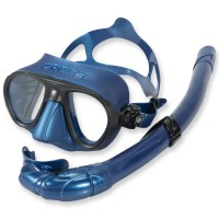 Cressi Freitauchset Calibro - blaues Silikon mit Schnorchel