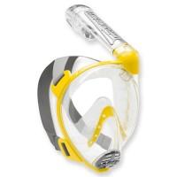 Cressi Duke - Vollgesichtsmaske mit Trockenschnorchel, gelb