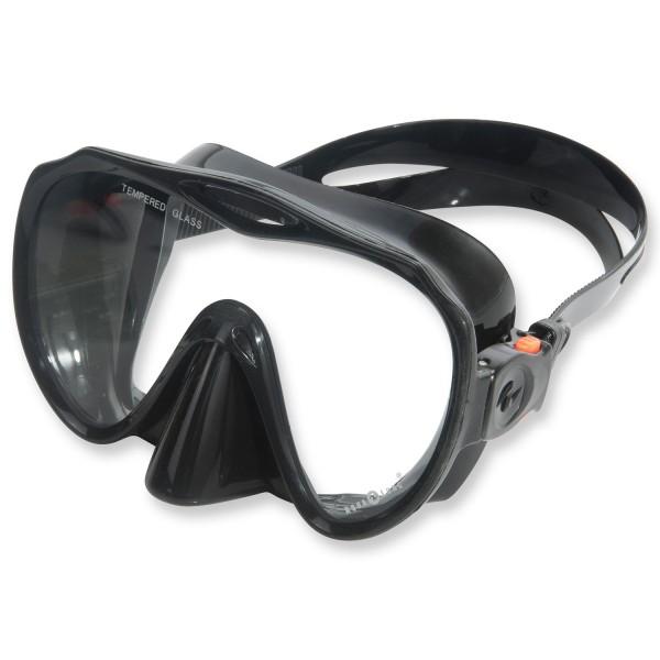 Hochwertige Einglasmaske Apeks Tek Malibu schwarzes Silikon