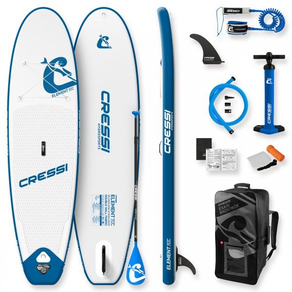 Cressi Element all round iSUP Set weiß blau - komplettes Sparset