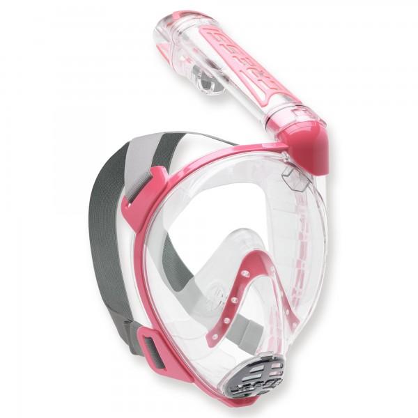 Cressi Duke - Vollgesichtsmaske mit Trockenschnorchel, pink