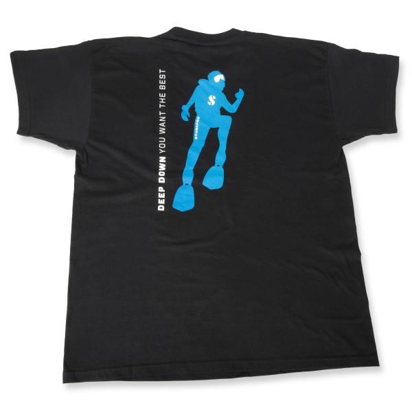 Scubapro LOGO T-Shirt kurzarm, schwarz beidseitig bedruckt