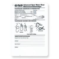 Unterwasser Schreibtafel PADI Advanced