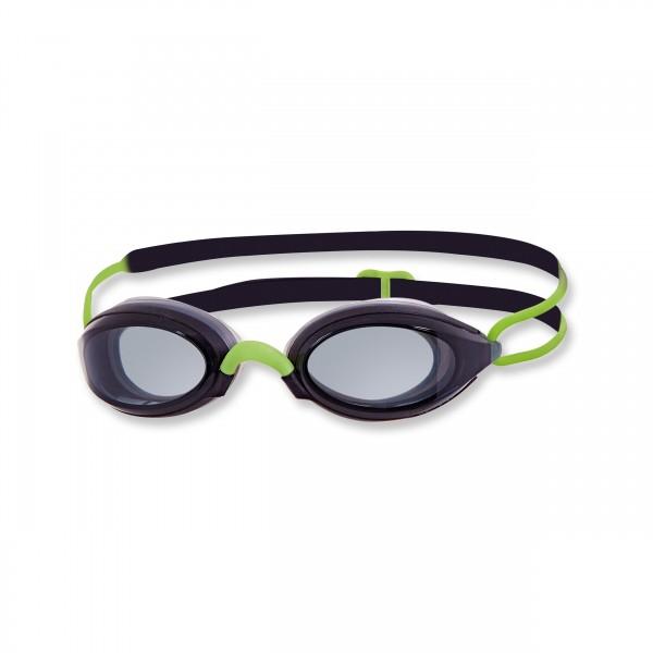 Zoggs Schwimmbrille Fusion AIR - black green smoke - getöntes Glas