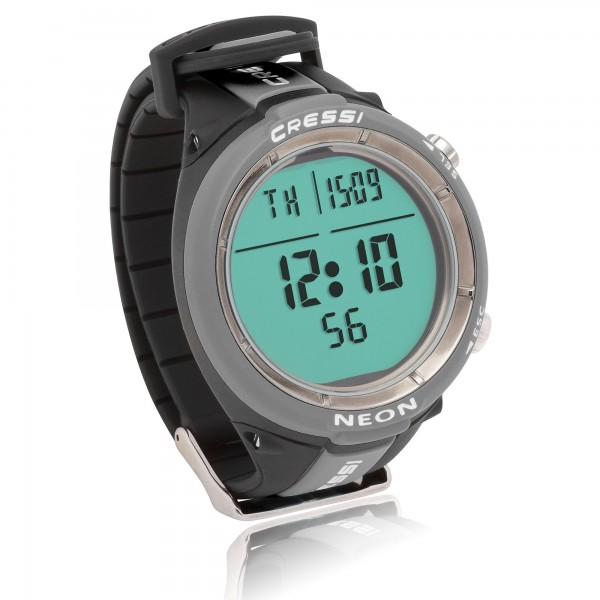 Cressi Tauchcomputer Neon - im Uhrenformat, grau